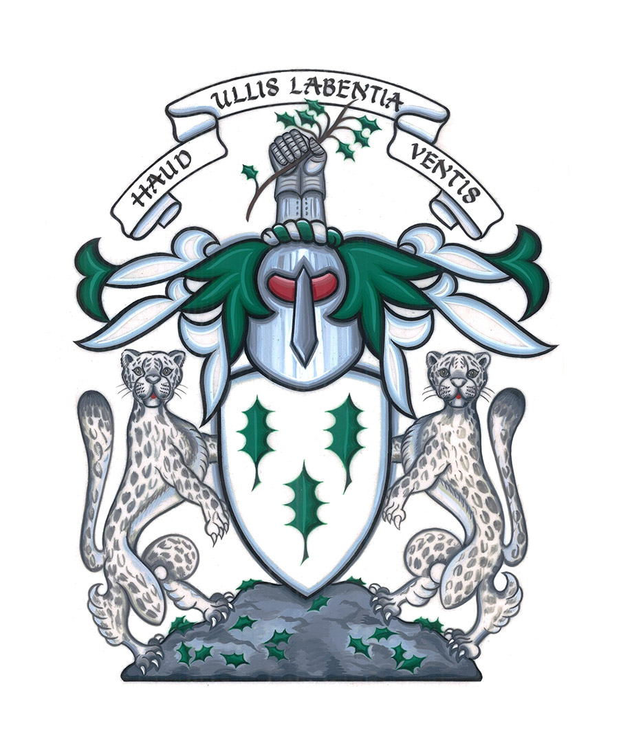 The Arms of the Chief of the Name and Clan Chief Irving of Bonshaw